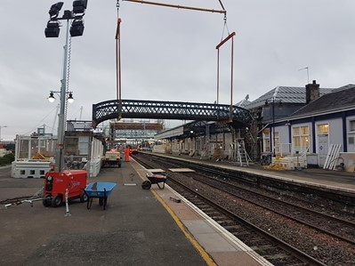 Stirling Station Bridge Removal